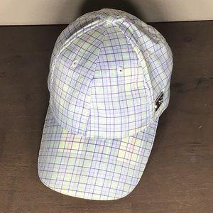Lululemon Men's dad hat | white and blue plaid